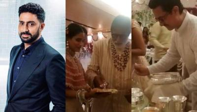 Abhishek Bachchan's Epic Reply When Asked Why Amitabh, Aamir Were Serving Food At Isha's Wedding