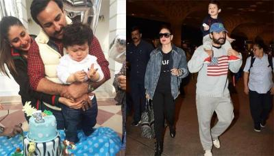 Taimur Ali Khan Excitedly Leaves For South Africa For His Second Birthday, With Saif And Kareena