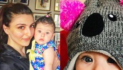 Mommy Soha Changes Her WhatsApp DP To Baby Inaaya's Cute Pic In Handmade Knitted Cap