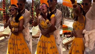 Milind Soman And Ankita Konwar Dancing To 'Ban Jaa Tu Meri Rani' On Haldi Ceremony