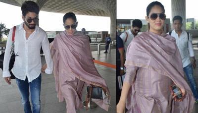 Mira Rajput Kapoor Visits Her 'Mayka' In Delhi With Hubby Shahid Kapoor, Flaunts Her Baby Bump