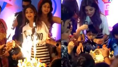 Shilpa Shetty Kundra's Son Viaan Raj Kundra's Unique Lollipop Covered Birthday Cake Looks Delicious