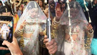 Rubina Dilaik Enters The Wedding Venue Dancing On 'Laung Gawacha' In A Floral Lehenga, Check Video!