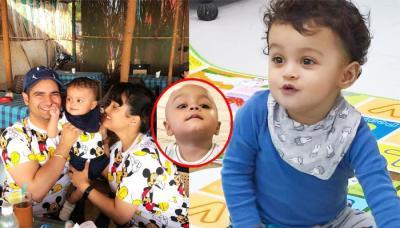 Karan Mehra And Nisha Rawal's 13-Month-Old Baby, Kavish Mehra's 'Mundan' Ceremony Pics