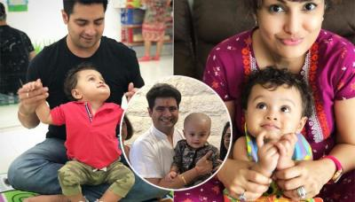 Karan Mehra And Nisha Rawal Share Throwback Pics From Their Son Kavish Mehra's 'Mundan' Ceremony