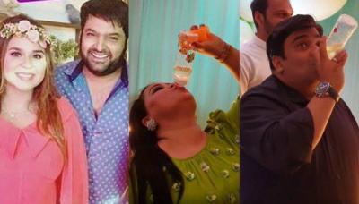 Kapil Sharma's Wife, Ginni's Baby Shower Had Bharti, Krushna And Kiku Drink From Feeding Bottles