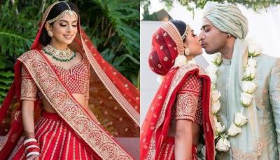 This Bride Re-Married Her Husband In A Traditional Red Sabyasachi Mukherjee Lehenga For Her Big Day