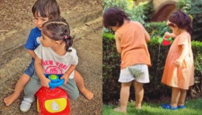 Taimur And Inaaya's Picture Sharing An Ice-Cream Will Make You Remember Your Childhood