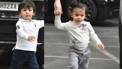 Taimur Ali Khan And Inaaya Naumi Kemmu Give Cold Stare To Paparazzi Friends, Pictures Inside