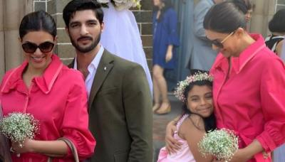 Sushmita Sen Attends Best Friend's Wedding With Boyfriend Rohman Shawl And Daughter Alisah