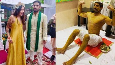 Prateik Babbar And Sanya Sagar's Haldi And Mehendi Ceremony Was All About Fun, Pics Inside