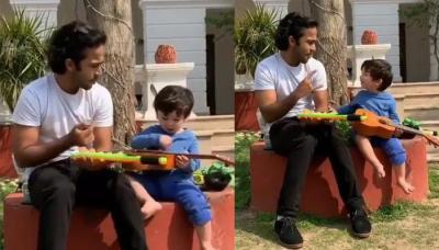 Taimur Ali Khan's Ukulele Expertise Will Make Major Musicians Shy, Jams With Maamu, Zahan Kapoor
