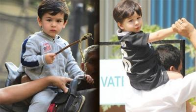Taimur Ali Khan Looks Dapper In A Grey Tracksuit With Customised Hat, Looks All Set For A Pony Ride