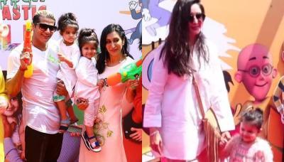 Karanvir And Teejay's Twins- Vienna And Bella Host Holi Bash, Kashmera, Chahatt Attend With Kids