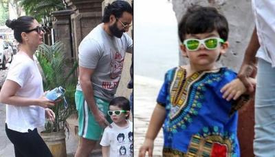 Taimur Ali Khan Flaunts His Favourite Green Sunglasses On Outing With Kareena Kapoor-Saif Ali Khan