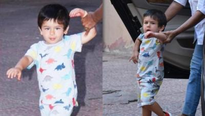 Taimur Ali Khan's Latest Casual Outfit Proves He Loves Dinosaurs Like Every Kid, Video Inside