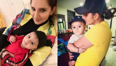 Sania Mirza And Her Son, Izhaan Mirza Malik Are All Set To Beat The Heat In Matching Caps