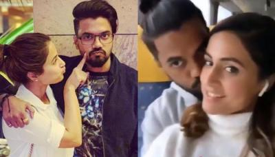 Hina Khan And The Love Of Her Life Rocky Jaiswal Twin In White On Their Way To Milan [Video Inside]