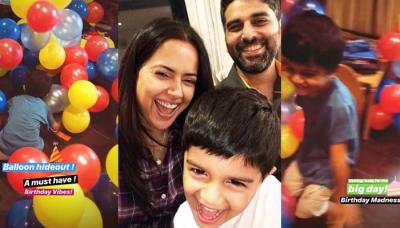 Sameera Reddy Shares A Throwback Picture Of Her Son, Hans Varde On His 4th Birthday