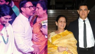 Aamir Khan, Wife Kiran Rao And Ex-Wife Reena Dutta Pose For A Family Picture On His Mom's Birthday