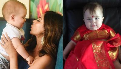 Lisa Ray Shares Adorable Picture Of Her Little Daughter Wearing A Beautiful Red Saree
