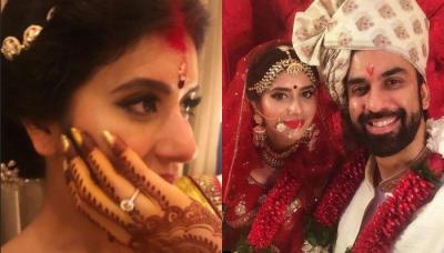 First Post-Wedding Look Of Charu Asopa And Rajeev Sen, Looks Beautiful As A Newbie Bride In Sindoor