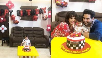 Karan Mehra-Nisha Rawal Celebrate Son, Kavish's 2nd Birthday With Unique Cake, Pics And Video Inside