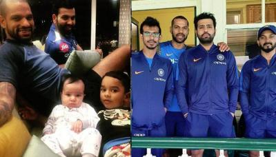 Shikhar Dhawan And Rohit Sharma Enjoy Local Train Ride Together With Their Wives And Kids