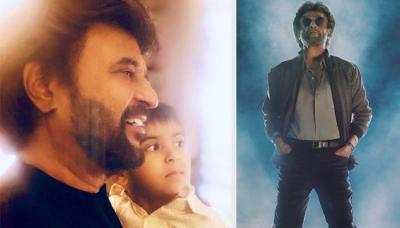 Rajinikanth's Grandson Ved Imitating His 'Petta' Pose Will Make You Say 'Like Grandpa Like Grandson'