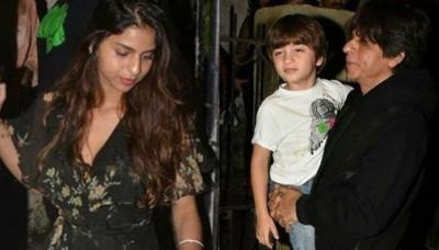 Shah Rukh Khan's Quality Time With Kids, Suhana, Aryan And AbRam, Paparazzi Captures The Dine Out