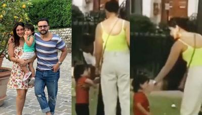 Taimur Ali Khan Spends Quality Time With Mom, Kareena Kapoor Khan In A Park In London [VIDEO]