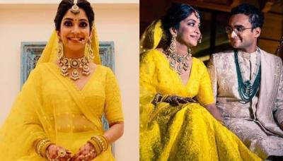 This Bride Ditched 'Laal Dulhan Ka Joda' And Opted For A Bright Yellow Sabyasachi Mukherjee Lehenga