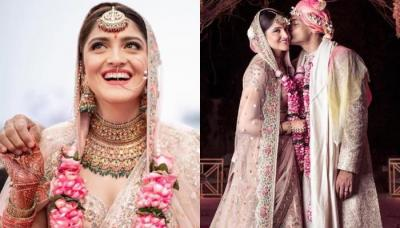 This Bride Wore A Super Gorgeous Pastel Lehenga From Designer, Sabyasachi Mukherjee's Collection