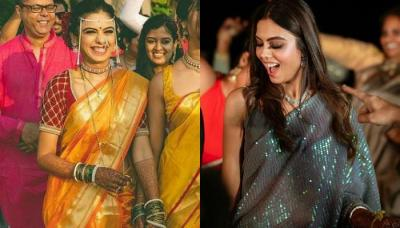 Maharashtrian Bride Wore A Bright Yellow Silk Saree On Her Wedding, Her Sangeet Look Stole The Show