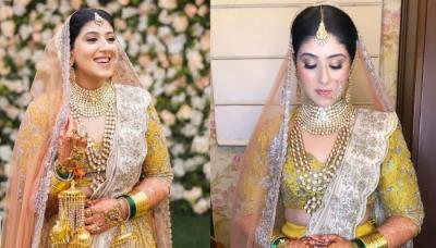 The Chef Bride Donned A Yellow Embroidered 'Lehenga' From Designer, Jayanti Reddy On Her Wedding