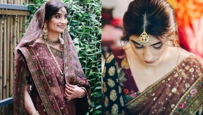Sabyasachi Bride Donned A Unique-Coloured Saree On Her Wedding Day, Radiates Vintage Glow
