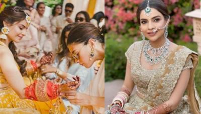 The Bride Wore Abu Jani-Sandeep Khosla And Manish Malhotra Outfits For All Her Wedding Ceremonies