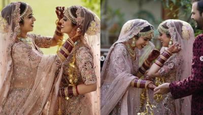 Twin Sisters Turned Brides On The Same Day And Wore Similar Outfits For Their 'Shaadi'