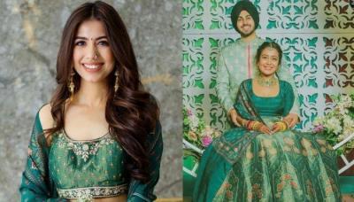 A Bride Wore Neha Kakkar's 'Mehendi Lehenga' With A Twist, Her Unique 'Kaleeras' Stole The Show
