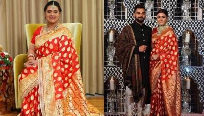 Sabyasachi Bengali Bride Recreated Anushka Sharma's Banarasi Saree Look From Her Wedding Reception