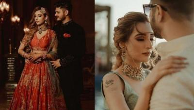 Sabyasachi Bride, Mehek Dhawan Shines In Red, Gets Hitched To Long Time Beau, Rumit Khullar