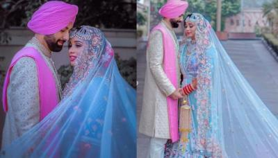 Sikh Bride Who Ditched The 'Dulhan Ka Laal Joda' And Opted For A Unique Pastel Blue Lehenga