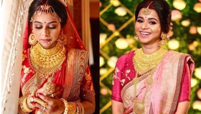 Bengali Bride Wore Three Sabysachi Mukherjee Sarees For Her Wedding, Reception And Post-Wedding Bash