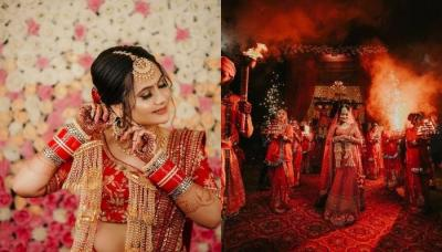 A Bridal Entry Inspired From The Movie 'Padmavat', Gave The Bride A Royal Look [VIDEO]