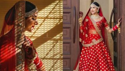 Lawyer Bride Ditched Her Black And White Court Room Outfit, To Slay In A Red Sabyasachi 'Lehenga'
