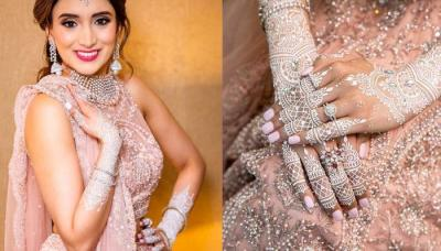 Bride Ditched Her Usual Mehendi For A White Heena Design For Her Pre-Phera Reception