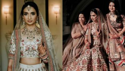 The Bride Who, Donned A Unique Ivory Sabyasachi 'Lehenga' For Her Wedding