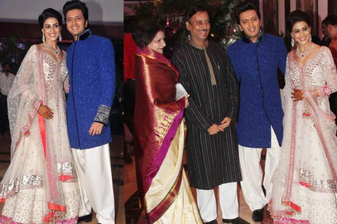 Ritesh desmukh wedding images