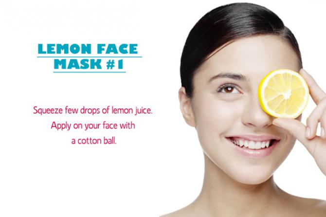 Lemon juice facial mask