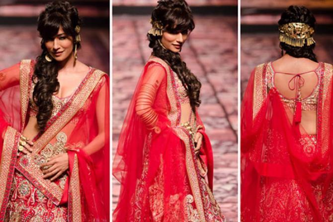 Designer bridal lehenga on rent in delhi